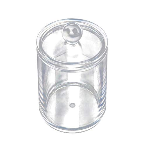 - Storage Boxes Bins - Transparent Cotton Ball And Swab Dispenser Acrylic Round Container Pads Holder Jar Makeup Organizer - Storage Bins Boxes Storage Boxes Bins Cotton Case Caddy Plastic Ball Co