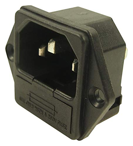 (CL1927RB - Power Entry Connector, MS-3 Series, Receptacle, 250 VAC, 10 A, Panel Mount, Quick Connect (Pack of 10) (CL1927RB))