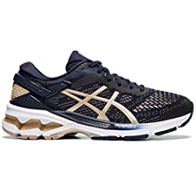 ASICS Women's Gel-Kayano 26 Running Shoes, 7.5M, Midnight/Frosted Almond