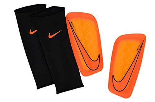 Nike Mercurial Lite Soccer Shin Guards (Total Orange, Bright Citrus)