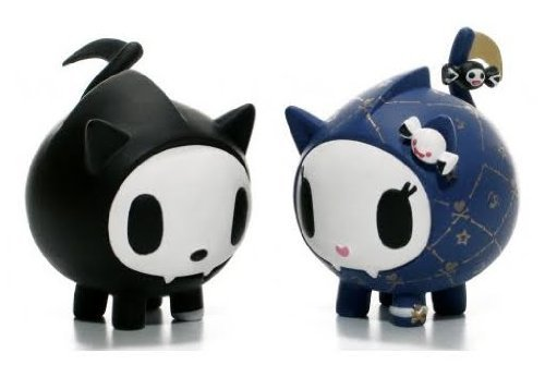 (Skeletrina and Skeletrino Kitties Vinyl Figure Tokidoki Cactus Friends Simone Legno by Tokidoki)