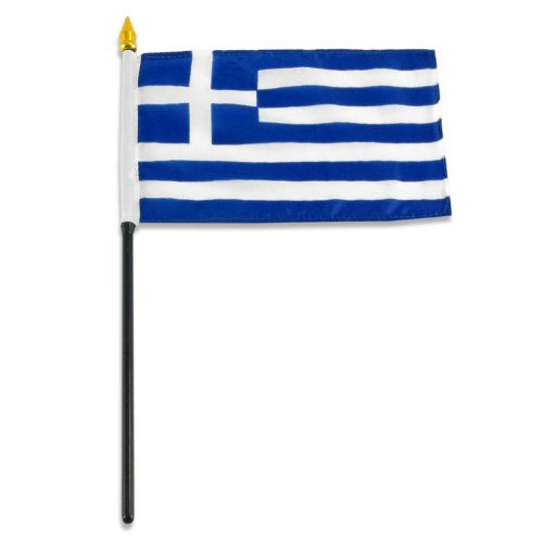 US Flag Store Greece Flag, 4 by 6-Inch