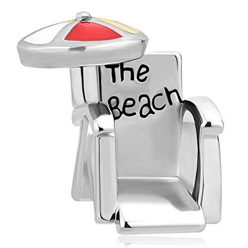 Price comparison product image JewelryHouse Summer Holiday The Beach Chair Bead Charms Bracelets (Red)