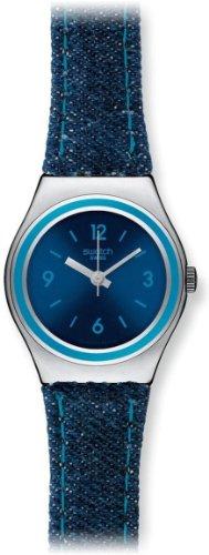 Swatch Denim Girl Blue Dial Denim Strap Ladies Watch YSS278