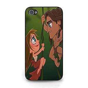 Iphone 4/4S Phone Case Tarzan Disney Cartoon Image Friendship Gift Cover