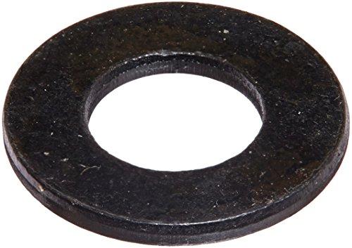 "Steel Flat Washer, Black Oxide Finish, ASME B18.22.1, 5/16"""
