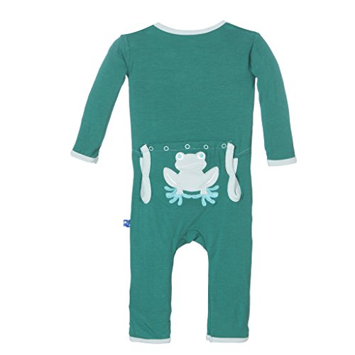 - KicKee Pants Little Boys Applique Coverall - Shady Glade Tree Frog, 12-18 Months