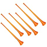 Vuvuzela - South African Style Collapsible Stadium Horn Orange (Pack of 6)
