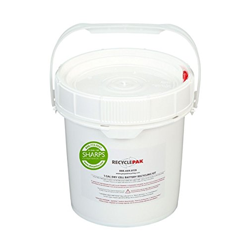 1-GALLON DRY CELL BATTERY RECYCLING PAIL - - Recycling Battery Cell Dry