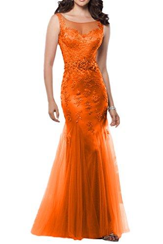 Schmaler mia Promkleider Abendkleider Spitze Glamour Bodenlang La Schnitt Figurbetont Partykleider Neuheit Orange Braut 1SIdxqw