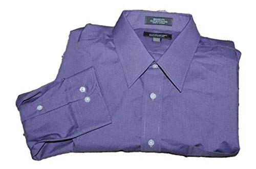 Croft & Barrow Mens Long Sleeve Button Front Point Collar Broadcloth Dress Shirt (Purple, 15.5 32/33)