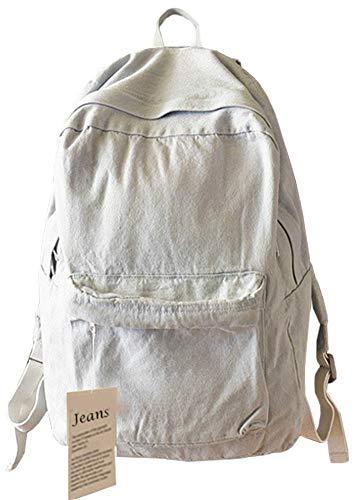 College School Bags Backpacks Girls Denim Cute Bookbags Student Backpack School Laptop Backpack Bag Pack Super Cute for School for Teenage (Gray) ()