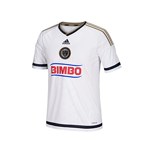 Adidas Youth Soccer Uniforms (MLS Philadelphia Union Boys Youth Replica Short Sleeve Jersey, Small, White)