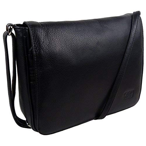Marc Chantal Women'S Leather Cross Body Handbag Onesize Black