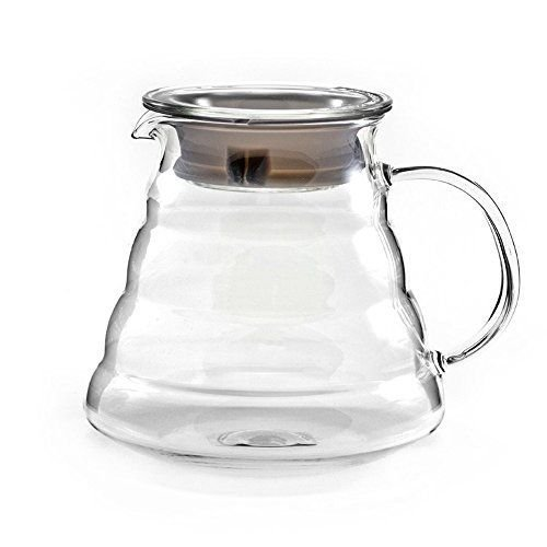 - New Hiware 600ml Coffee Server, Standard Glass Coffee Carafe, Coffee Pot, Clear