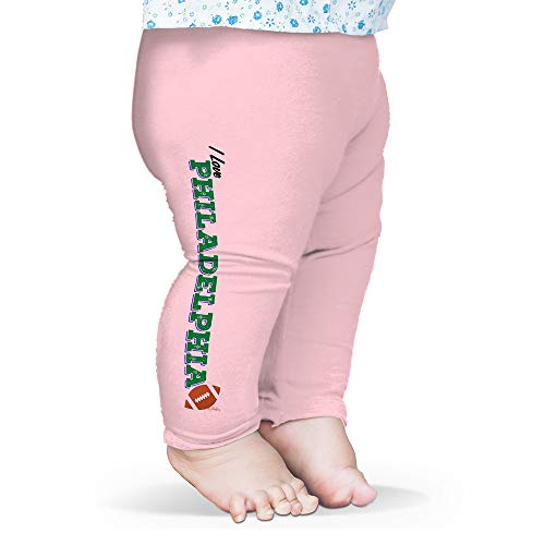 Twisted Envy Baby Pants I Love Philadelphia American Football Pink 3-6 Months
