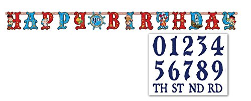 (Jake and the Neverland Pirates Add an Age Letter Banner, 1 Piece, Made from Paper, Birthday, by)