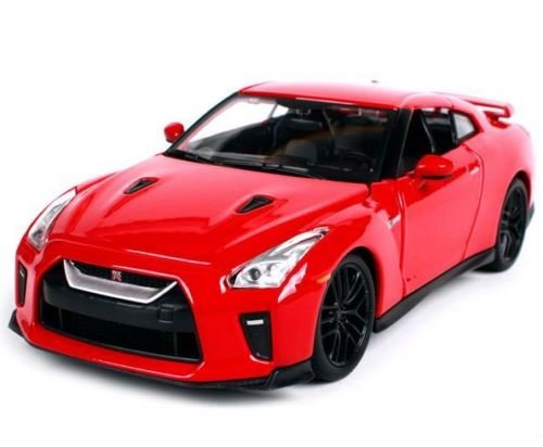 Gt Diecast Model - Bburago 1:24-2017 Nissan GT-R (Red) Diecast Vehicle