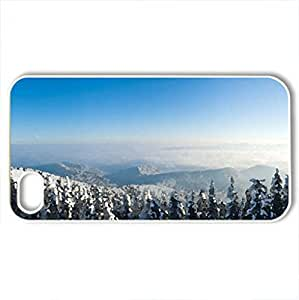 Beautiful winter day - Case Cover for iPhone 4 and 4s (Watercolor style, White)