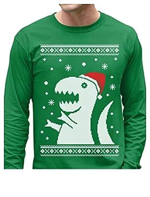 Big Trex Santa Ugly Christmas Sweater - Funny Xmas Long Sleeve T-Shirt