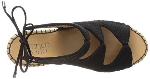 Franco Sarto Donna Nash Espadrillas Sandalo Con Zeppa Nero