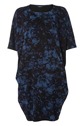 Comoda Giorno 4 Maglieria Abbigliamento Navy Jersey Sera Da Per Abito Floral Originals Tunica Donna A Casual Cocoon 3 Oversize La Roman Elasticizzata Maniche 1XZgx6