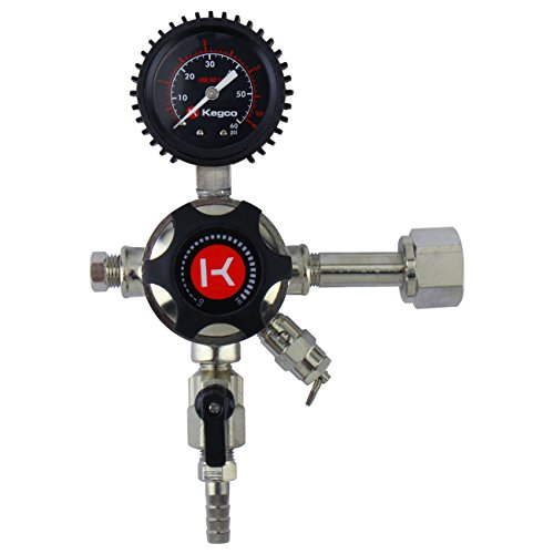 - Kegco LHU51 Elite Series Single Gauge CO2 Draft Beer Regulator