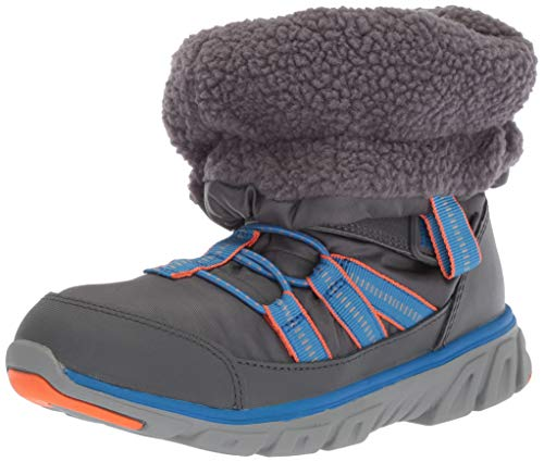 Stride Rite Baby Boy's and Girl's Machine Washable Snow Boot, Grey, 4 W US Toddler