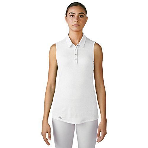 adidas Golf Women's Performance Polo Sleeveless T-Shirt, White, Large