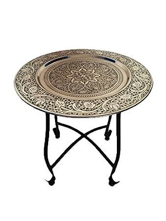 Hervorragend Marokkanischer Tisch Beistelltisch Aus Metall Sule ø 40cm Rund |  Orientalischer Runder Teetisch Klein Mit Klappbaren