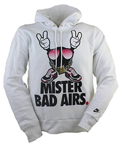 Nike Mister bagno Airs con cappuccio da uomo, colore: bianco, bianco, S
