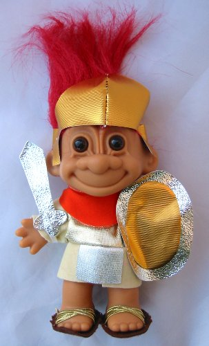 (Russ Berrie My Lucky Troll SPARTICUS Troll Doll (Red Hair))