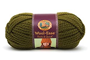 Lion  640-178F Wool-Ease Thick & Quick Yarn , 97 Meters, Cilantro