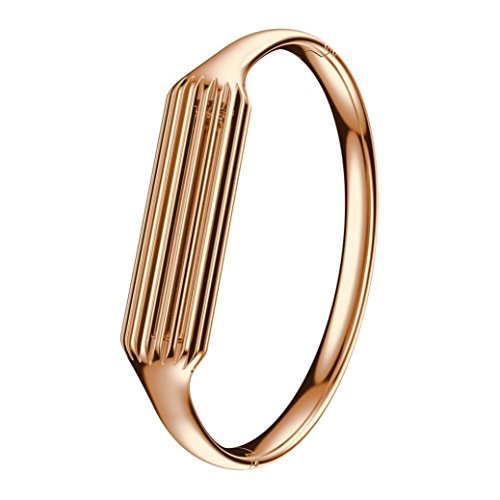 EloBeth Compatible Fitbit Flex 2 Bands, Fashion Accessory Bangle for Fitbit Flex 2 (Rosegold-Small)