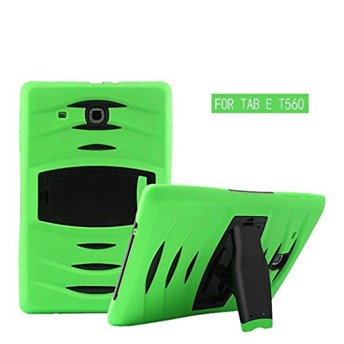 Price comparison product image Dreamyth Heavy Duty Hybrid Military Armor Case Cover For Samsung Galaxy Tab E 9.6 SM-T560 (Green)