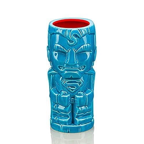 (DC Comics Geeki Tiki Ceramic Mug Superman Blue 16 oz)
