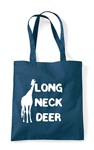 Long Giraffe Animal Funny Alternative Cute Petrol Bag Names Tote Deer Themed Shopper Neck AXxZqw