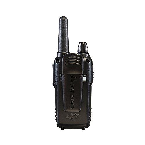 Midland - LXT600VP3, 36 Channel FRS Two-Way Radio - Up to 30 Mile Range Walkie Talkie, 121 Privacy Codes, NOAA Weather Scan + Alert (Pair Pack) (Black) by Midland (Image #3)