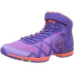 Zumba Women's Flex II Remix High Dance Shoe, Purple/Neon Orange, 5 M US