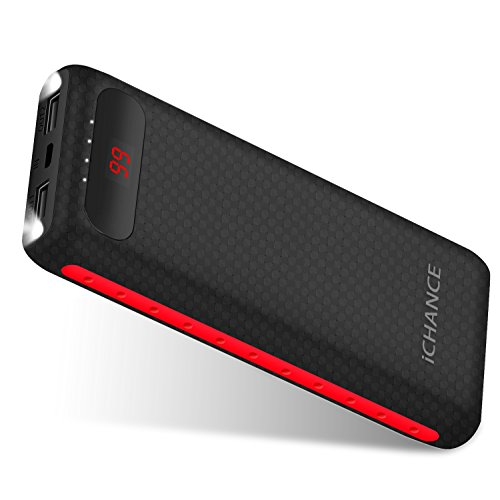 Power Bank iChance 16000mah Portable Charger with Fast Charge and Safety Charge System Battery Pack for Smart Phone Cellphone Tablet and More Devices