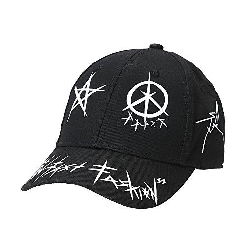 Diamondo Unisex European Fashion Punk Graffiti Personality Baseball Cap (Black) ()
