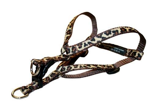 Sassy Dog Wear 8-16-Inch Natural Leopard Dog Harness, X-Small