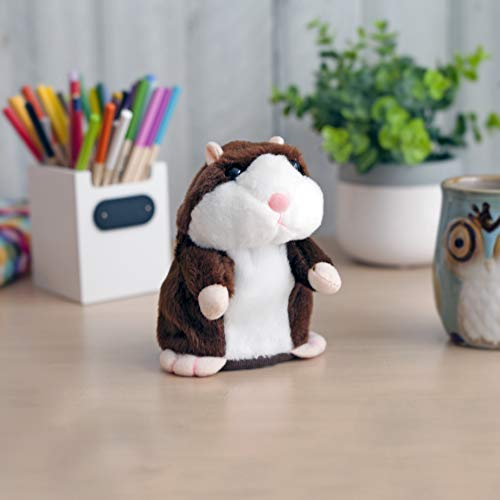 JayDee Hilarious Talking Hamster Toy That Repeats What You Say | Interactive Repeating Plush Toys for Baby | Lovely Brown Color That Will Mimic Your Words | Very Funny and Adorable Electronic Animal