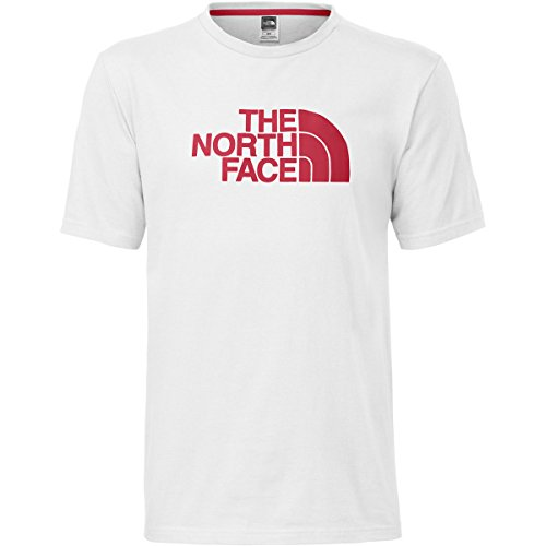 The North Face Mens S/S Half Dome Tee (X-Large, TNF White/TNF Red)
