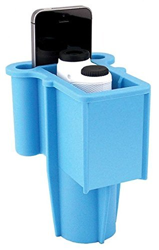 The Range Gripper for Golfers - an All-in-One Rangefinder/Smartphone Holder- Fits Any Golf Cart Cupholder, Secures & Protects Your Range Finder & Cell Phone - Never Lose Valuables Again, Light Blue