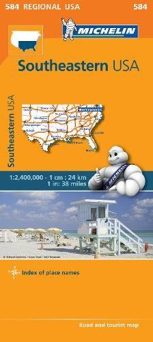 Southeastern USA - Michelin Regional Map 584 (Anglais) Carte – Illustré, 17 juin 2013 Michelin Editions des Voyages 2067184660 Karten / Stadtpläne Carte stradali-Mondo
