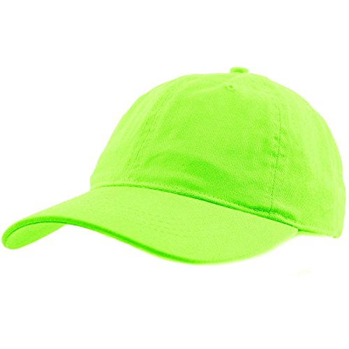 (Everyday Unisex Cotton Dad Hat Plain Blank Baseball Adjustable Ball Cap Lime)