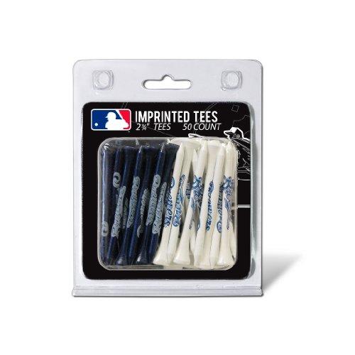 "Team Golf MLB Milwaukee Brewers 2-3/4"" Golf Tees, 50 Pack, Regulation Size, Multi Team Colors"