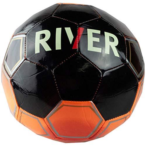 Balón de fútbol de tamaño 5 Argentina River Plate negro y naranja ...