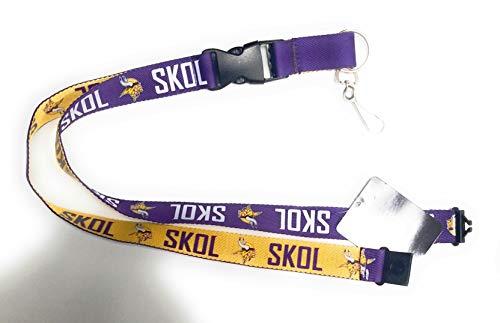 Minnesota Vikings SKOL PSG Premium Lanyard 2-Sided Keychain Football ()